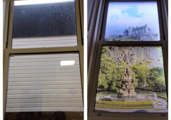 photo of Ward 11 window - before and after